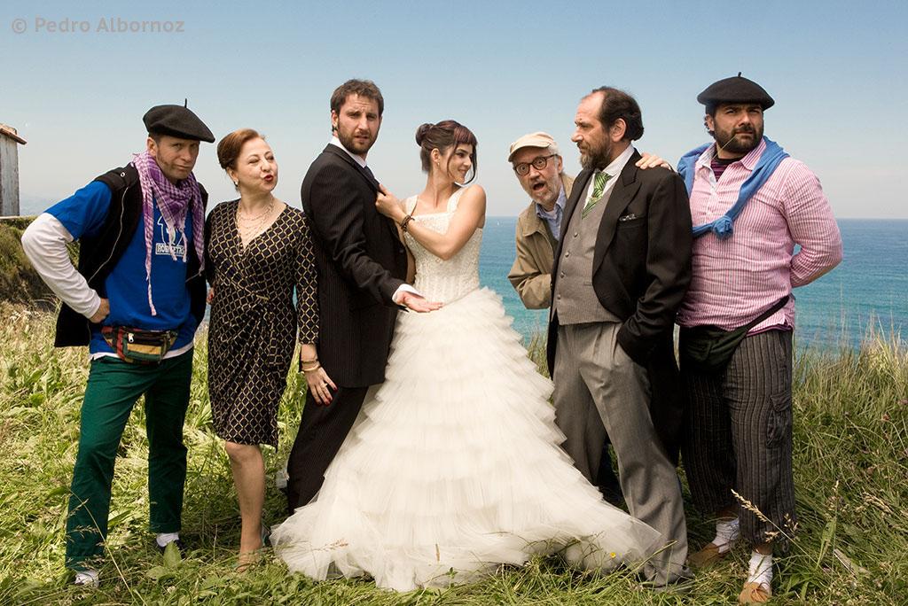 Foto de Familia en la boda de 8 Apellidos Vascos